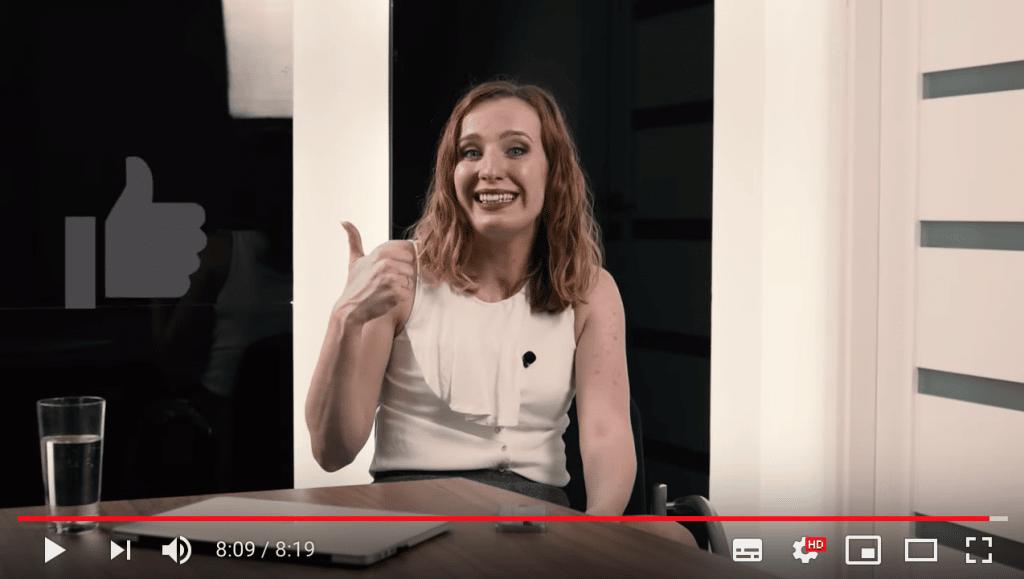 Anna Prończuk-Omiotek screen vloga o stresie przed wystąpieniem publicznym