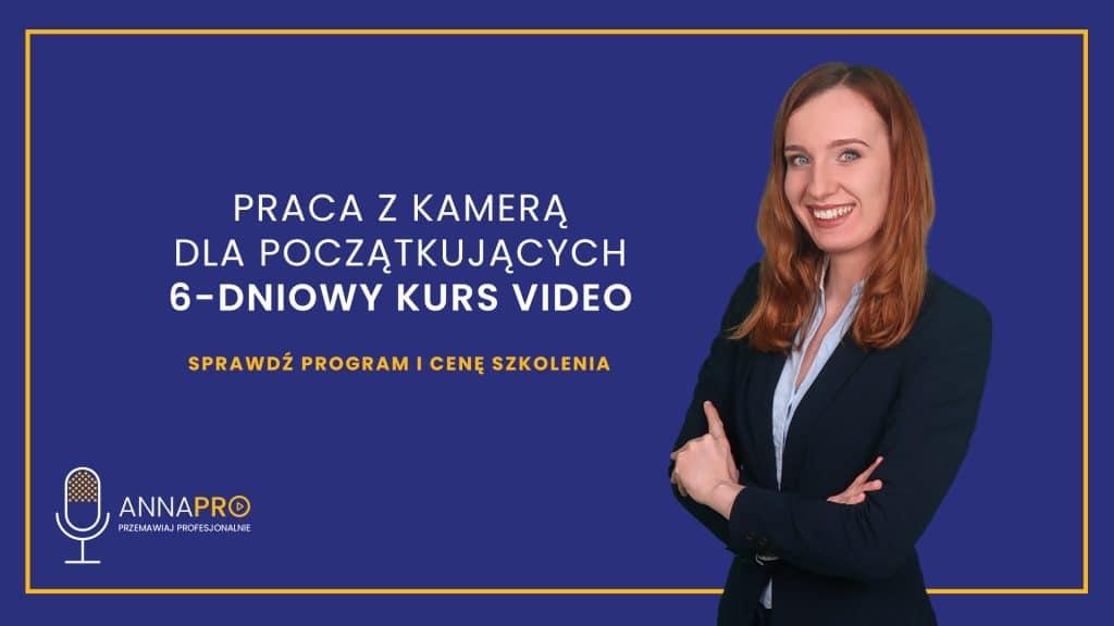 Kurs wystąpień publicznych przed kamerą online