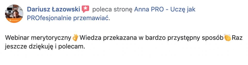 Rekomendacja Dariusz Łazowski