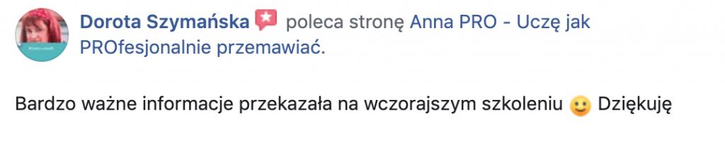 Rekomendacja Dorota Szymańska