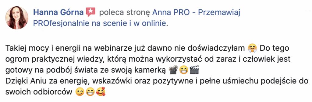 Rekomendacja Hanna Gorna