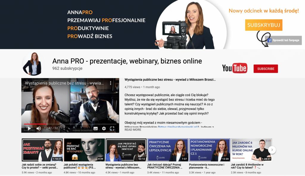 """Kanał na YouTube """"Anna PRO"""": https://www.youtube.com/AnnaPRO"""