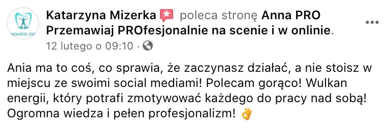 Rekomendacja Katarzyna Mizerka